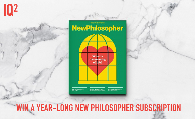 IQ2 New Philosopher Magazine Giveaway