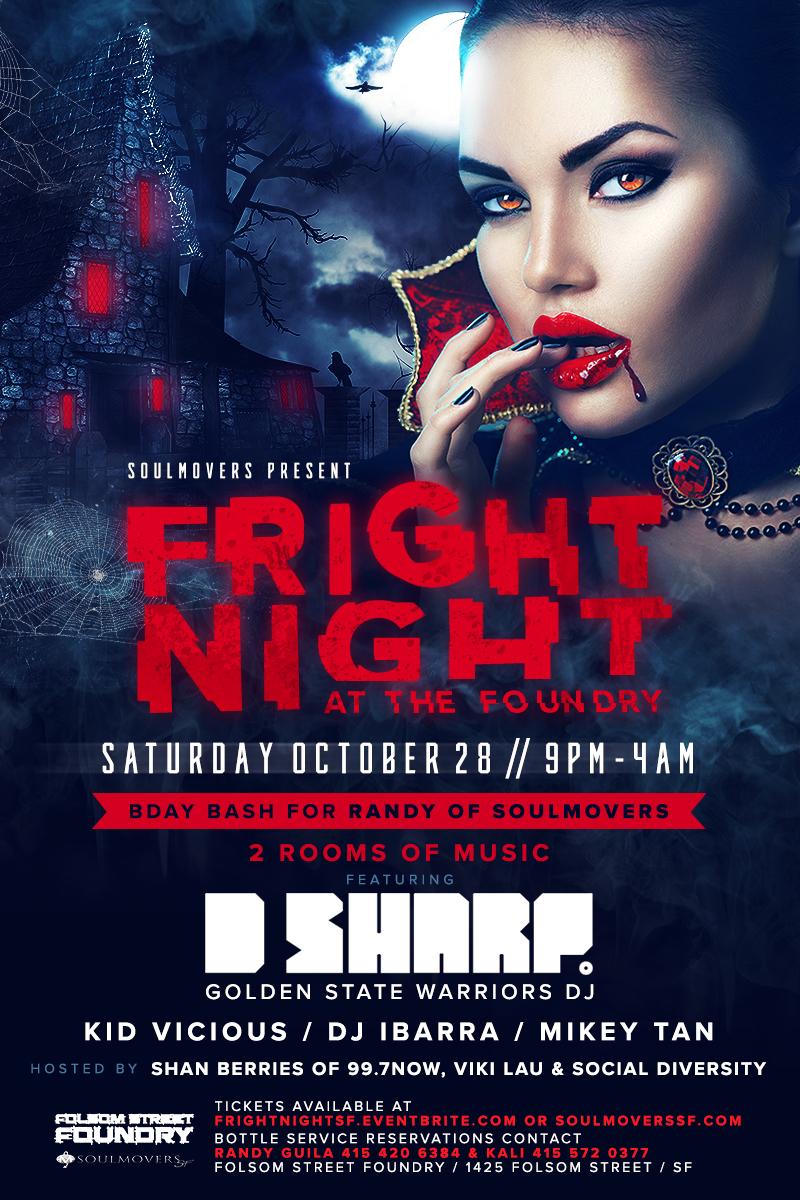 Fright Night flyer