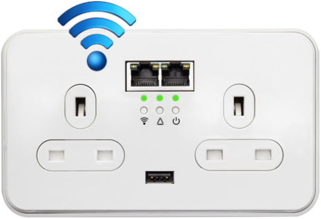 Power Ethernet T1501 with built-in WiFi