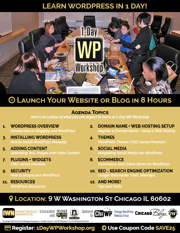 Register for 1-Day WP Workshop Now!