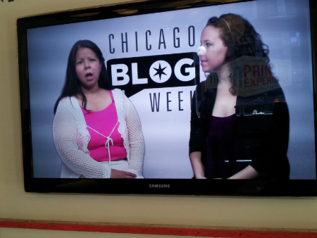 Blogger Mary Vasquez of ApprenticeButterflies.com with Melissa Miller of ChicagoBlogWeek.TV