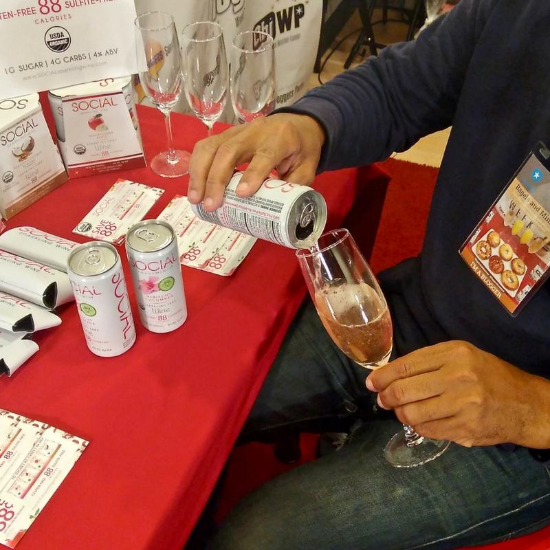 Taste Social Sparkling Wine at Bloggers Breakfast Chicago