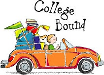 girl in car going to college
