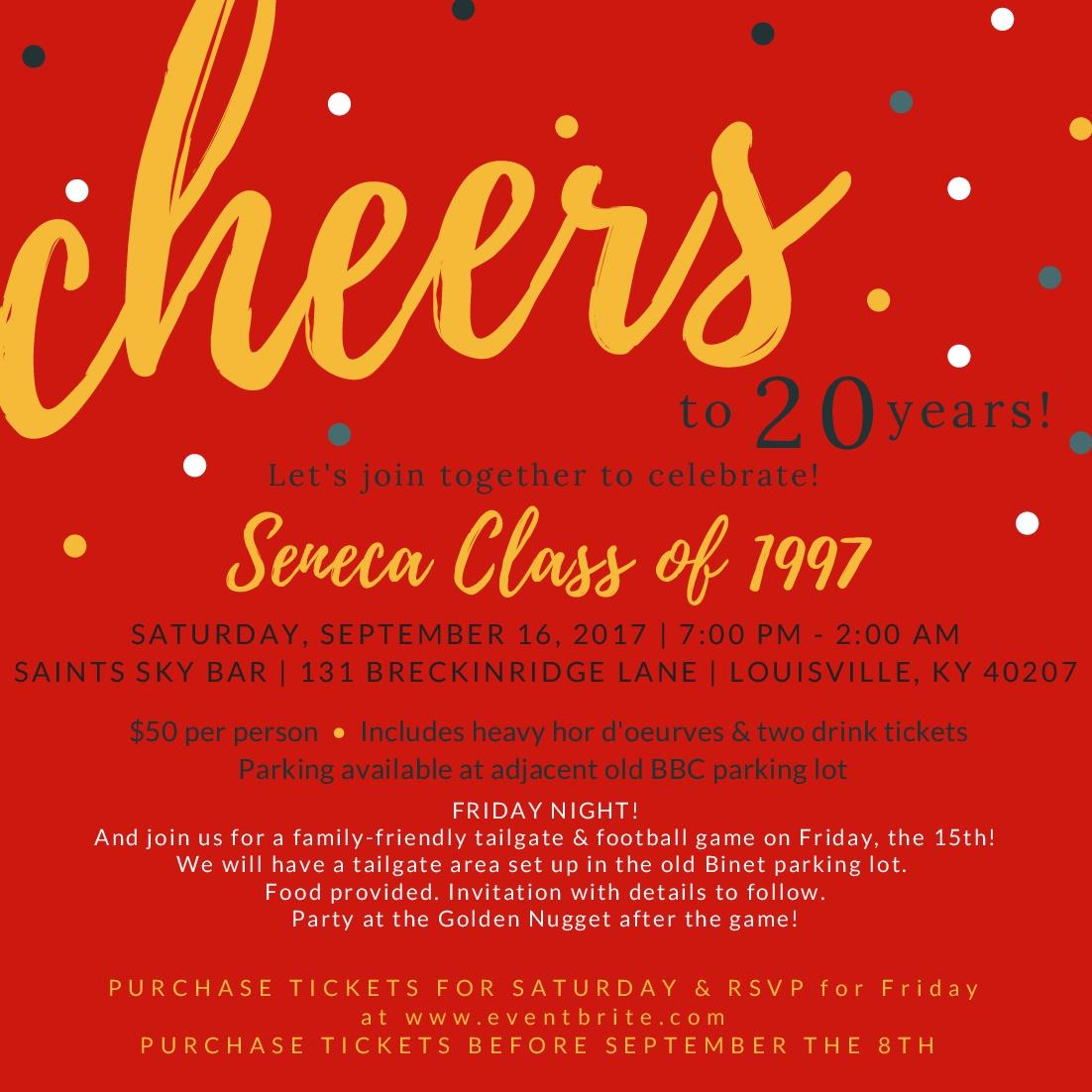 Seneca Class of 1997 20 Year Reunion