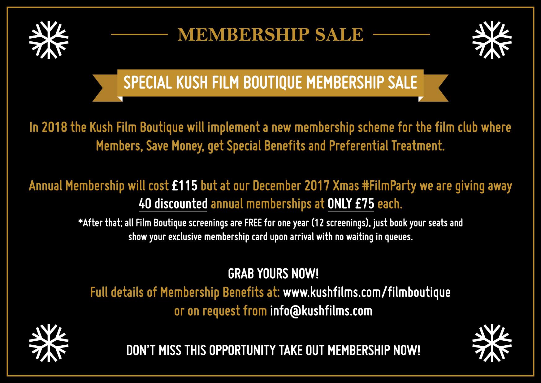 Kush Film Boutique Membership