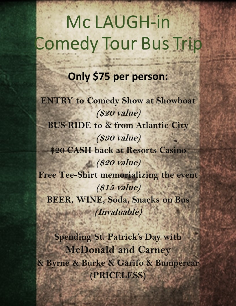 BUS TRIP to Atlantic City @ Showboat Hotel | Atlantic City | New Jersey | United States