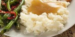 mashed potatoes gravy string beans
