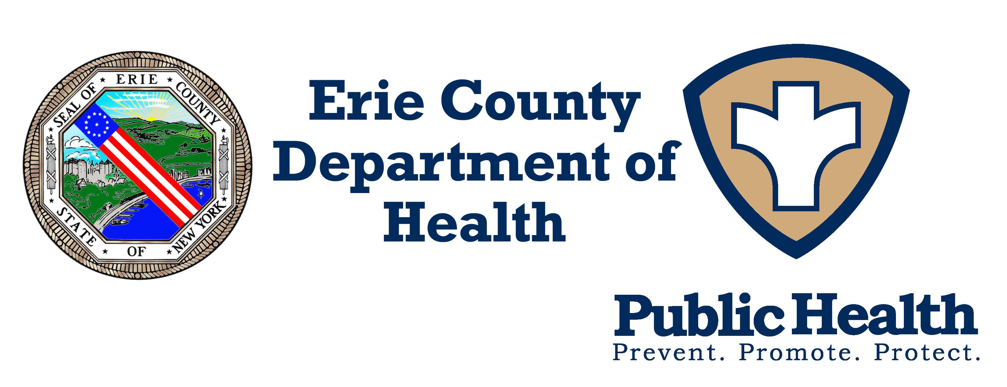 Logo of Erie County Health Dept. & Public Health logo