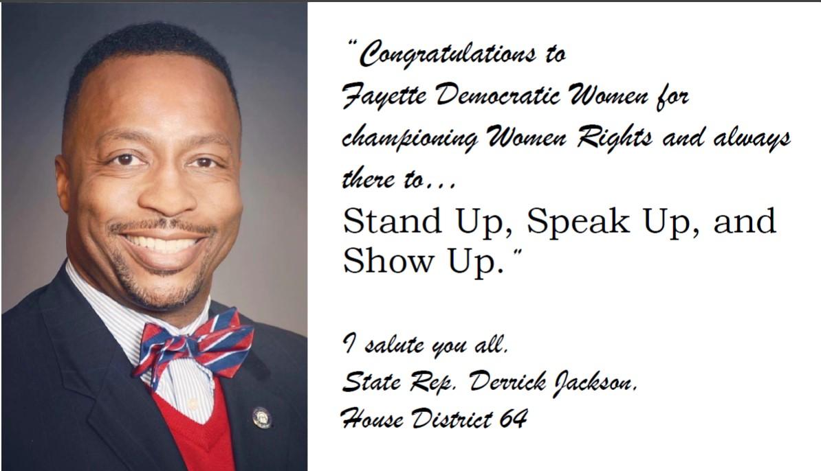 Derrick Jackson, Representative
