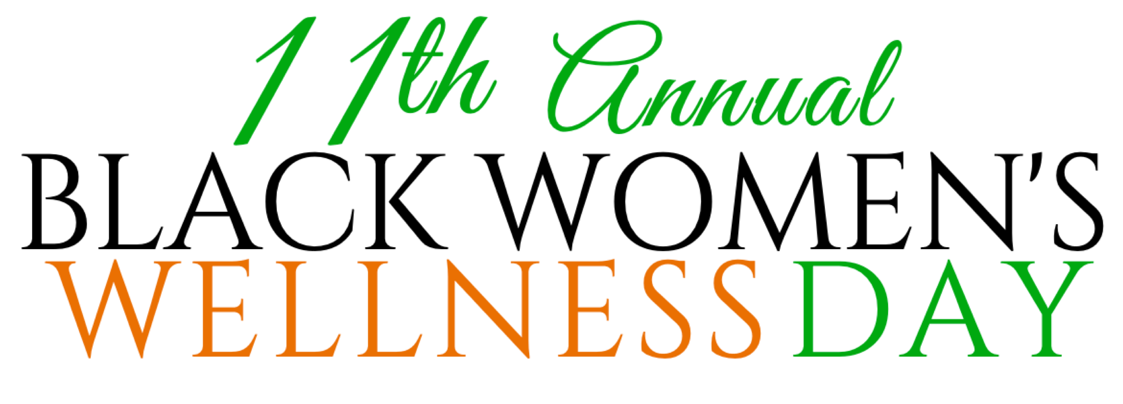 11th Annual BWWDAY logo in black, orange and green