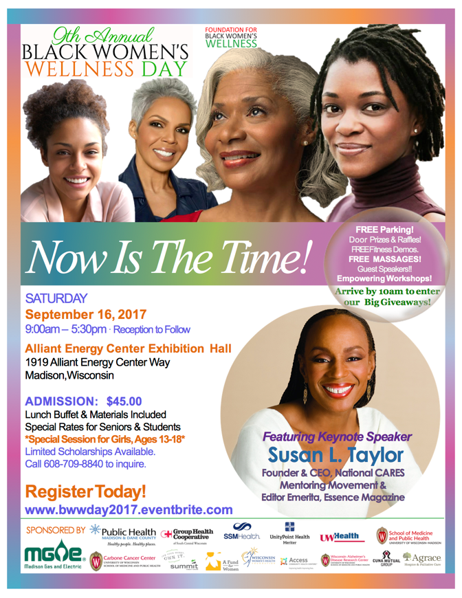 Multicolor BWWDAY 2017 Flyer with Susan L Taylor