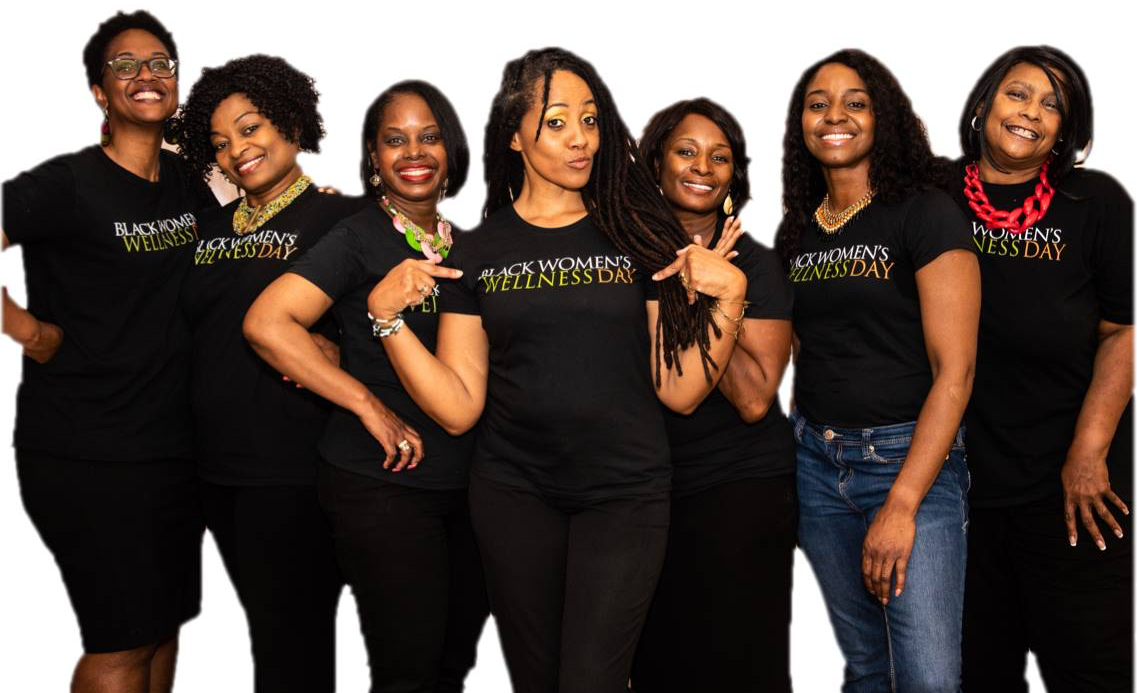 row of smiling women in BWWDAY t-shirts