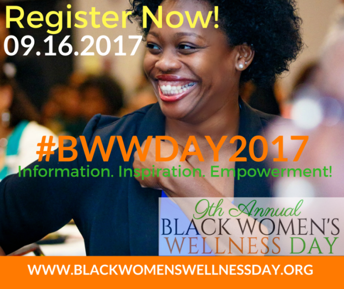 BWWDAY 2017 Multicolor poster with smiling woman