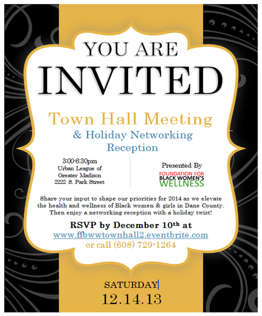 FFBWW Town Hall Meeting & Holiday Networking Reception Tickets, Sat, Dec 14, 2013 at 3:00 PM ...