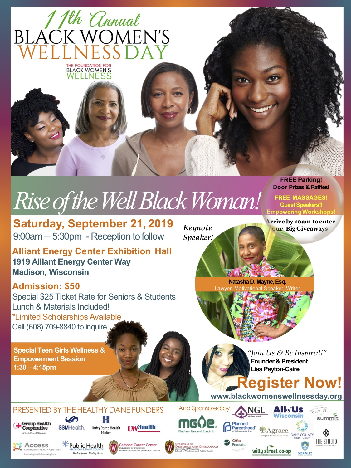 2019 BWWDAY Flyer with Natasha D. Mayne