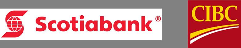 Scotiabank and CIBC logos