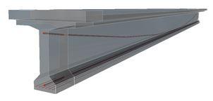 Brugdek uit samengesteld beton - voorspanning