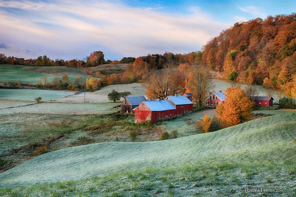 Vermont farm in autumn color