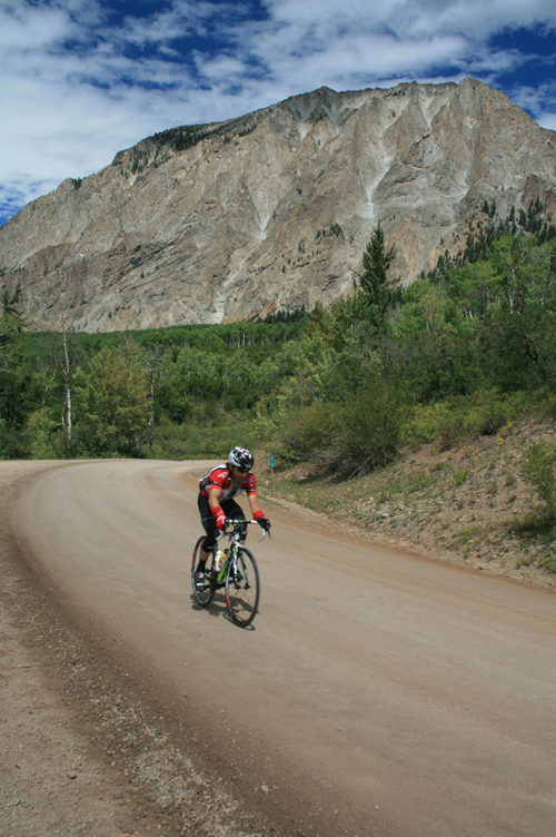 The final 25 mile 5000' climb over Kebler pass on dirt.
