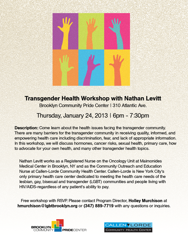 Trans Health Forum Flyer