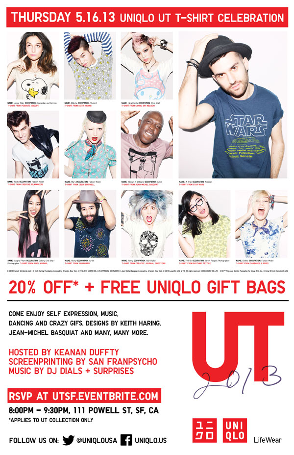 UNIQLO UT Launch Event - SF Flyer