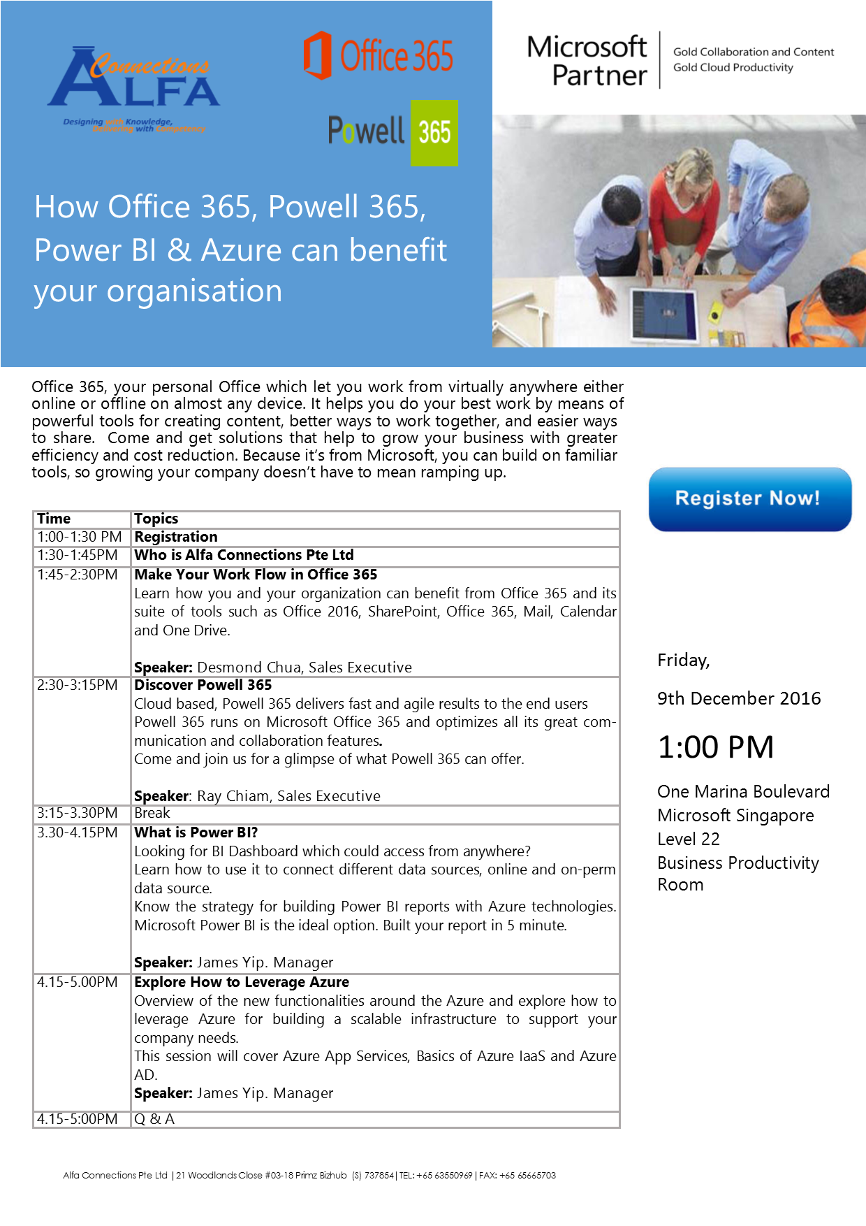 How Office 365, Powell 365, Power BI & Azure can benefit your organisation