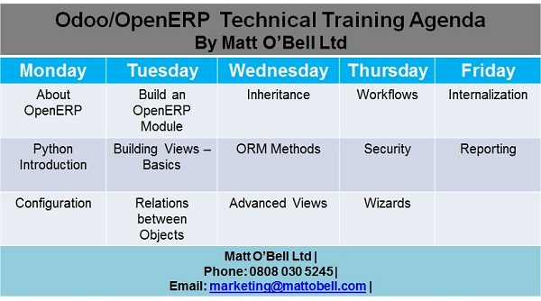 Odoo Technical Training