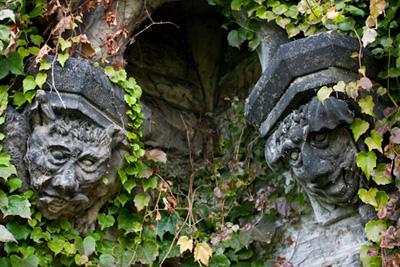two scary gargoyles
