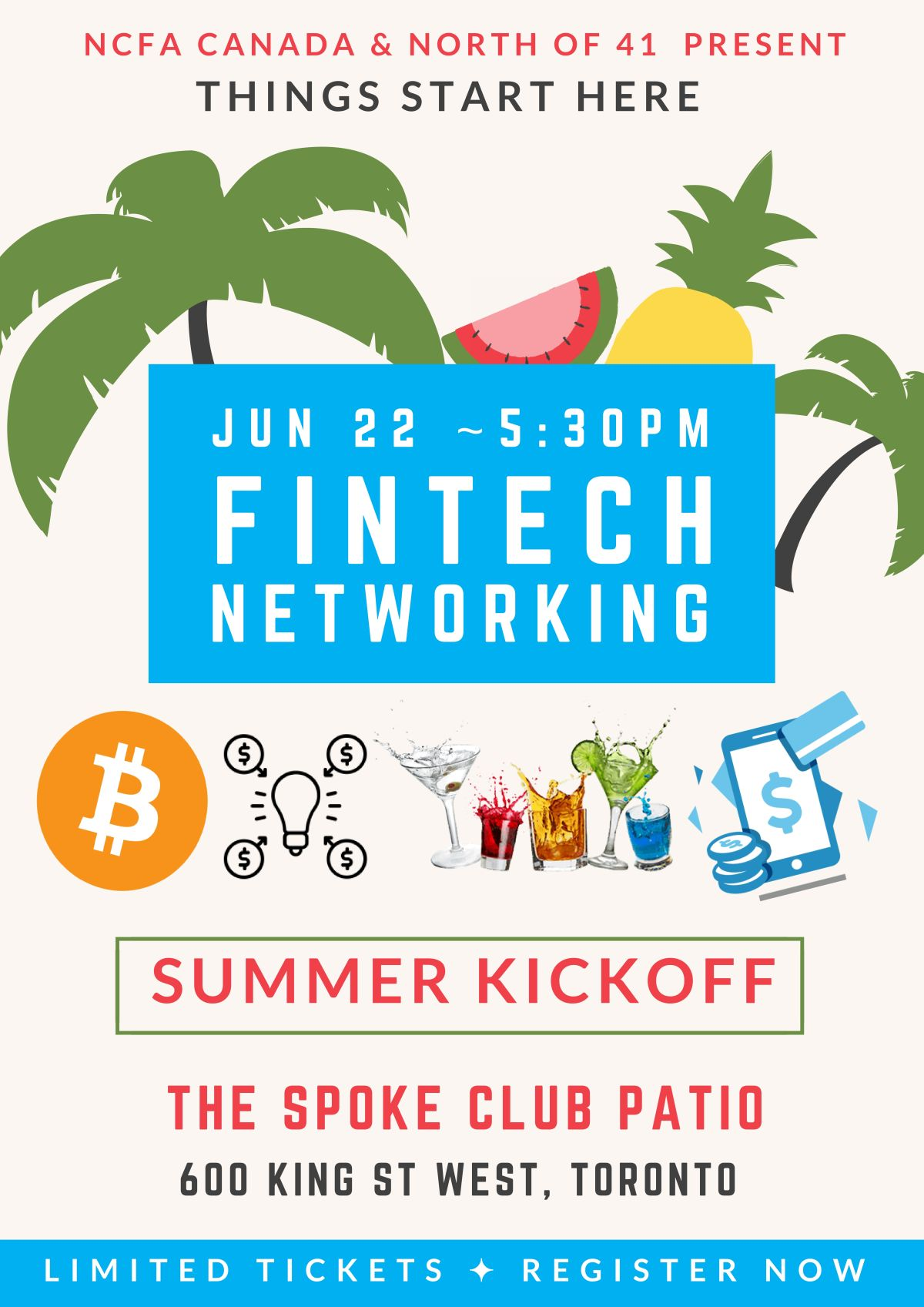 NCFA and North of 41 Summer Kickoff Networking Jun 22 @The Spoke Club