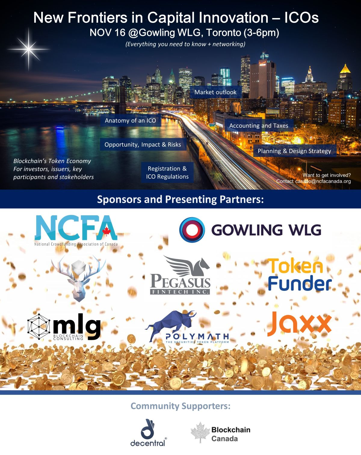 NCFA Nov 17 New Frontiers Blockchain and ICO Event