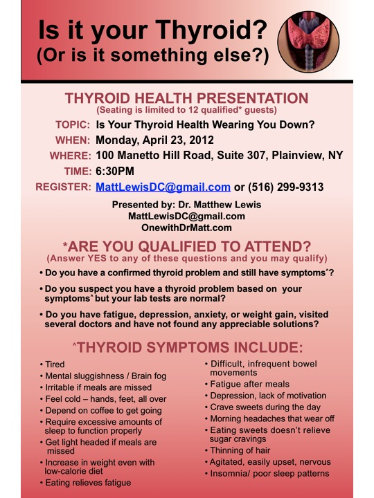 April 23 - Is it Your Thyroid?