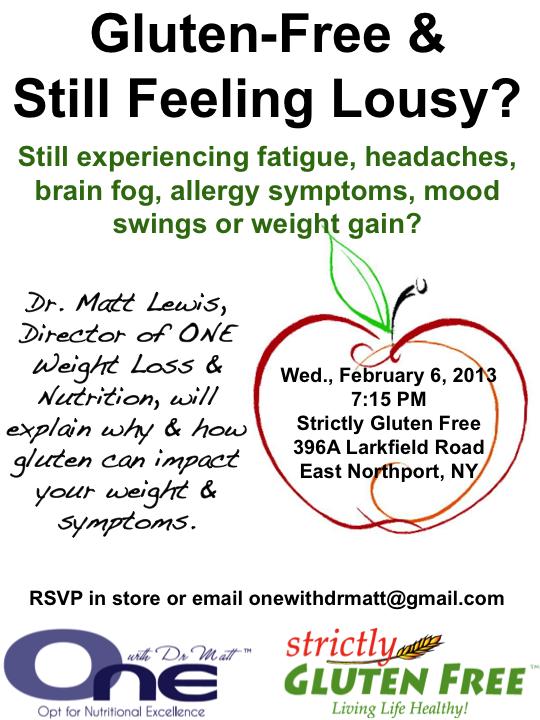 Gluten Free & Still Feeling Lousy Seminar