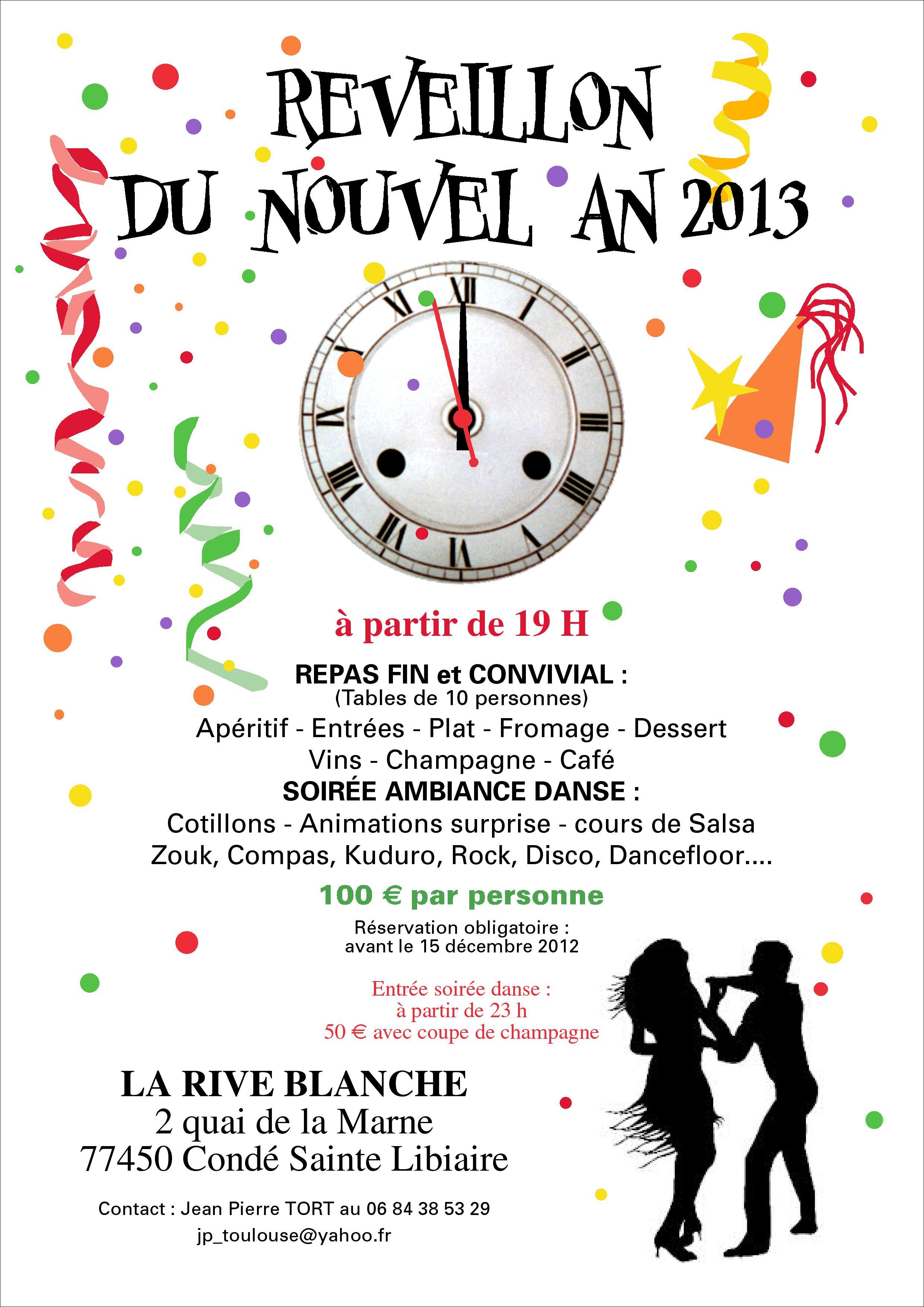 Soire dansante pour le reveillon 2013