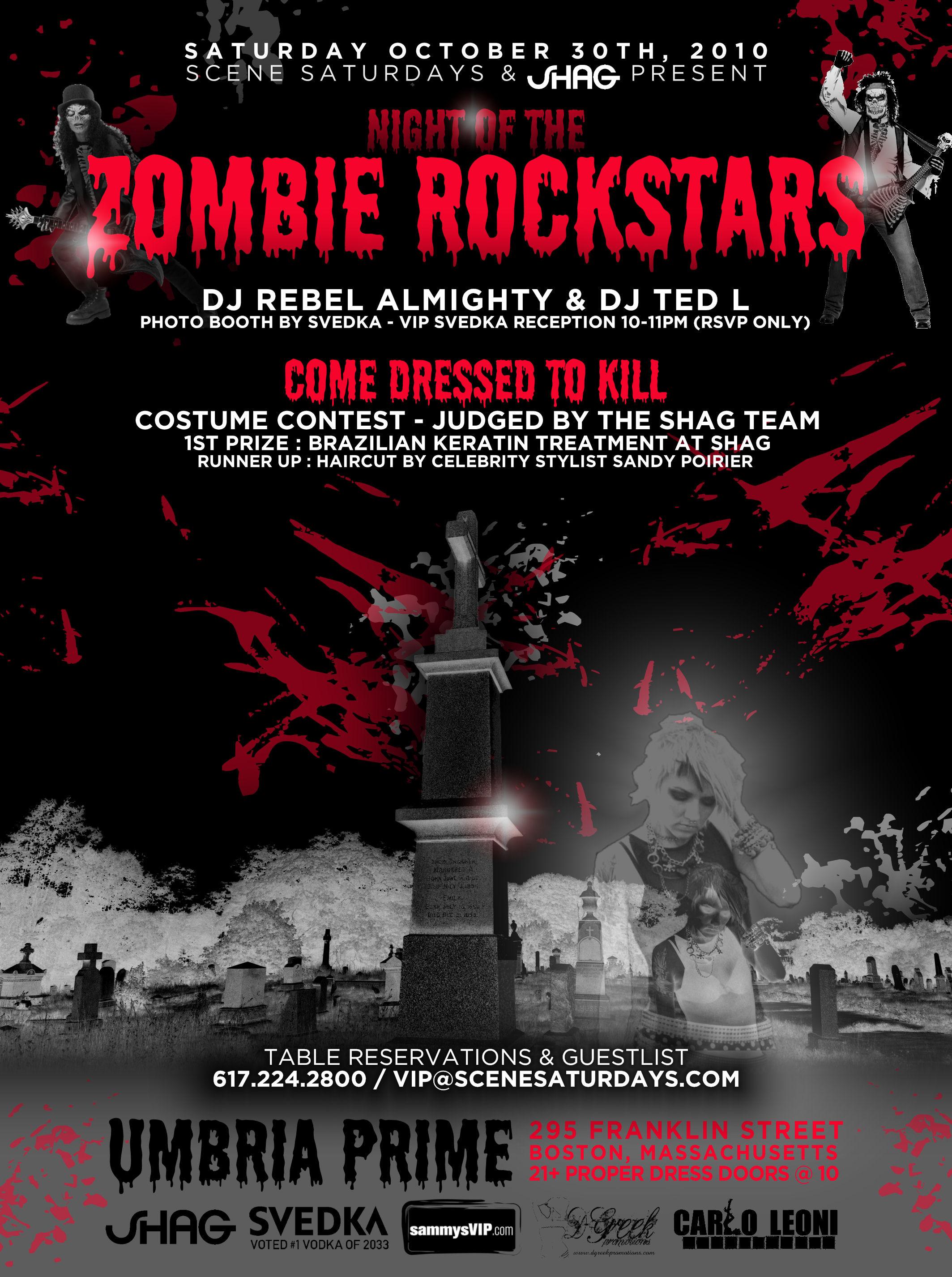 Halloween Zombie Flyer 10/30/10