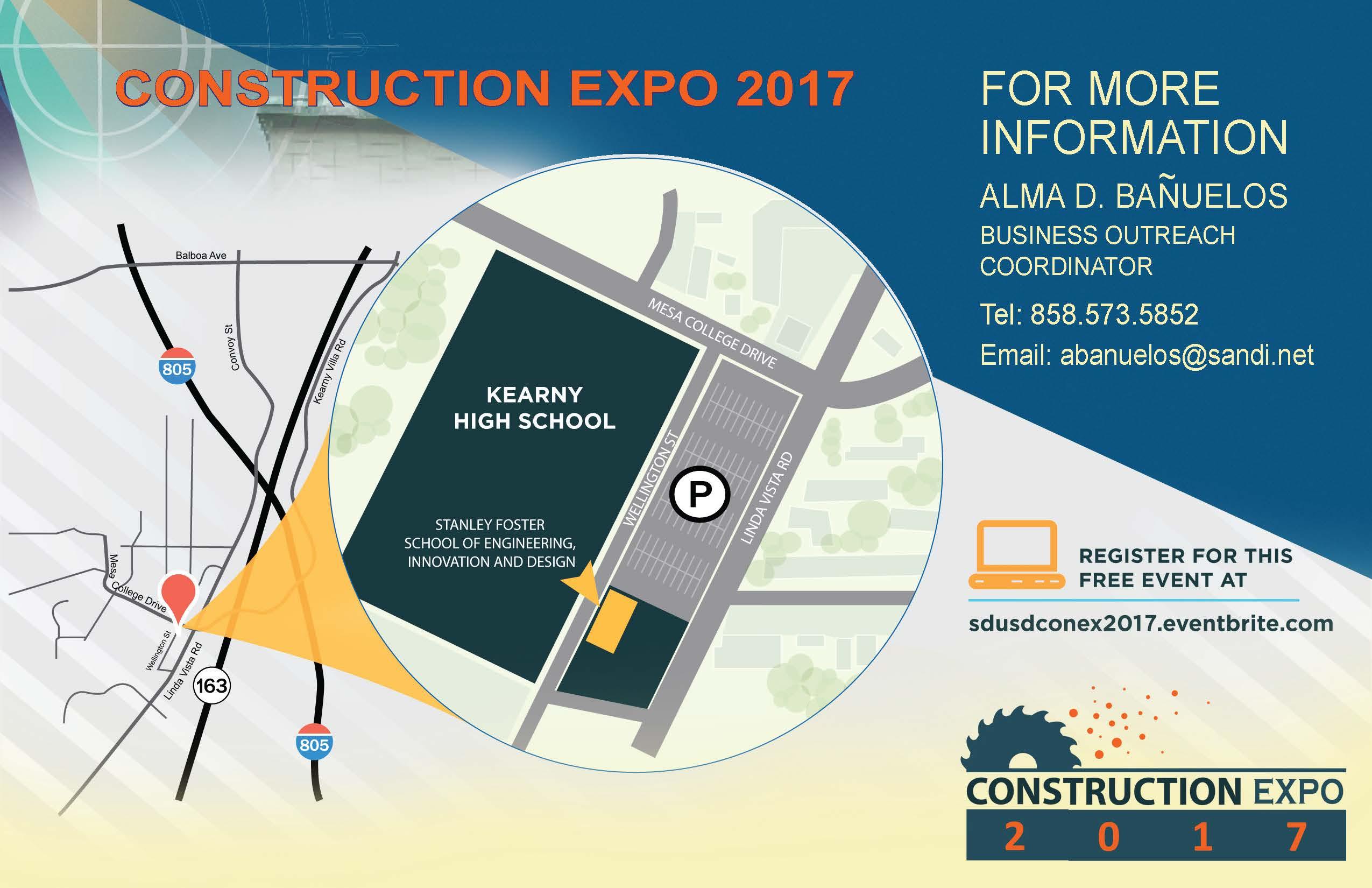 SDUSD Construction Expo 2017 Map