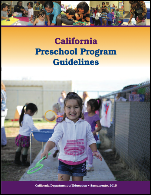Cover of the California Preschool Preschool Program Guidelines