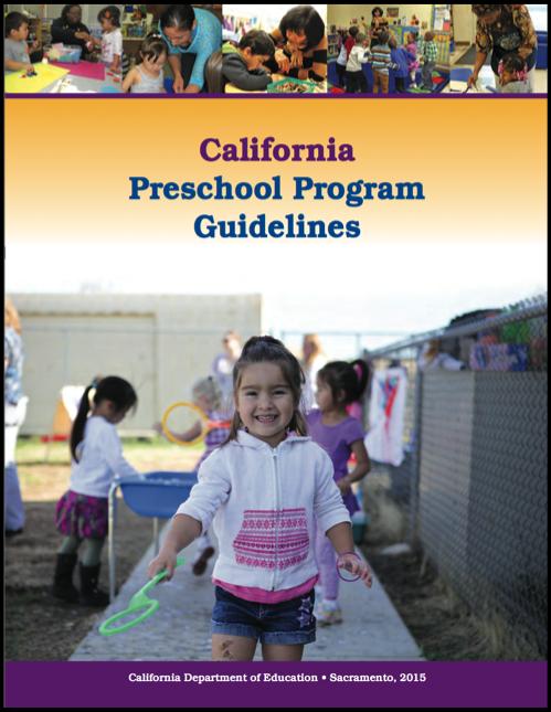 Cover of the California Preschool Preschool Program Guidelines