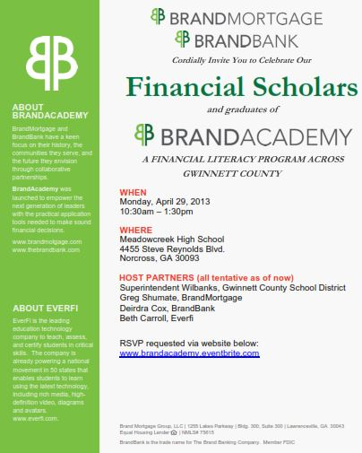 Financial Scholars Invite