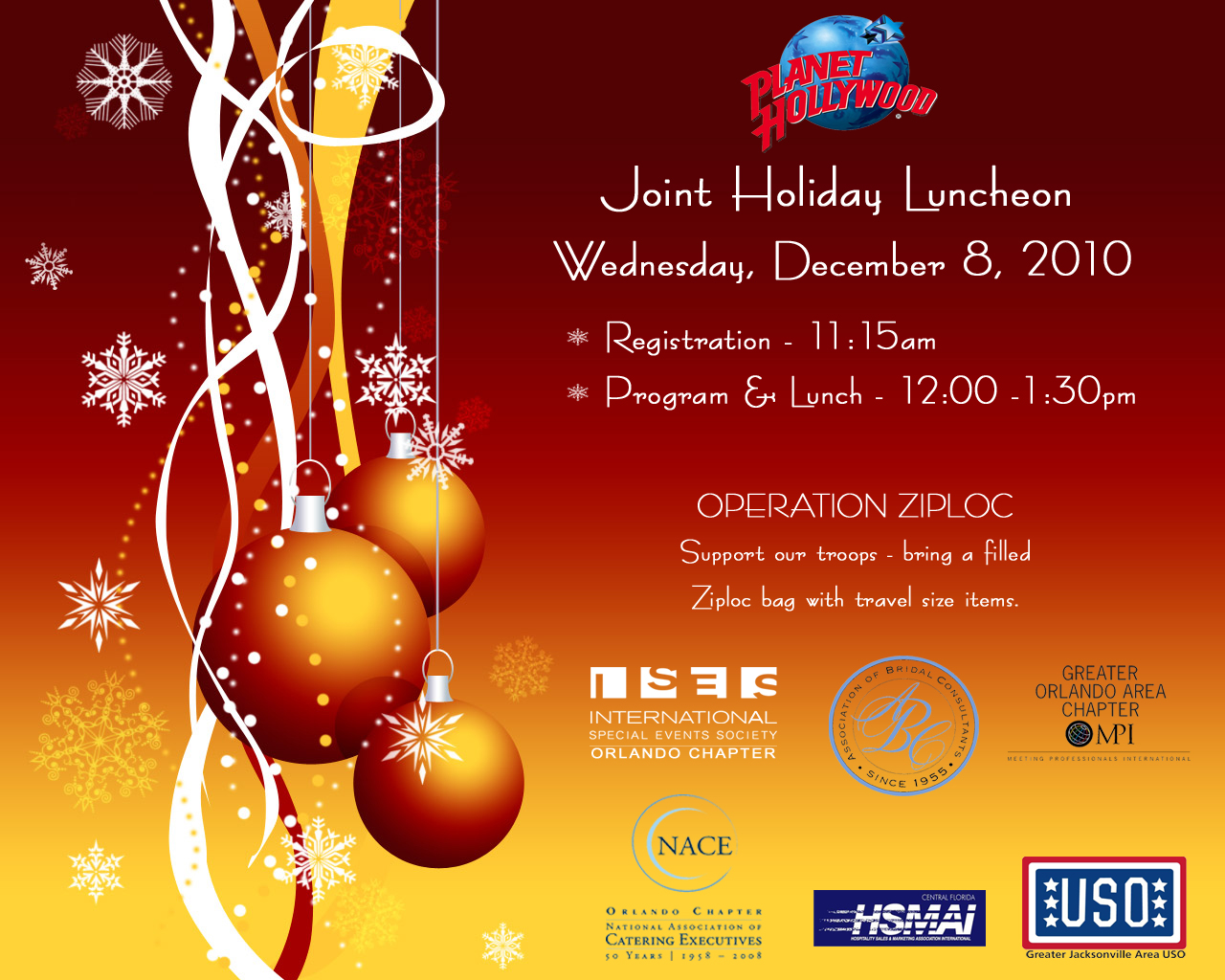 2010 Joint Holiday Luncheon Flyer