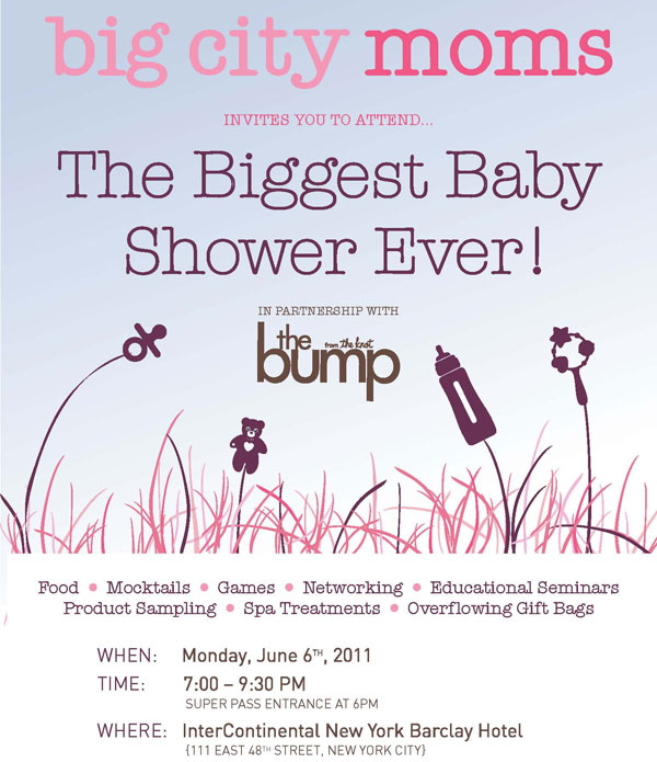 big city moms biggest baby shower tickets mon jun 6 2011 at 7 00 pm