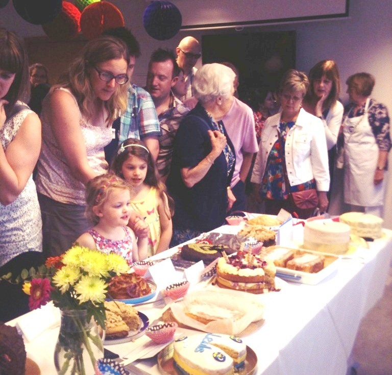 Our previous bake off, admiring the cakes