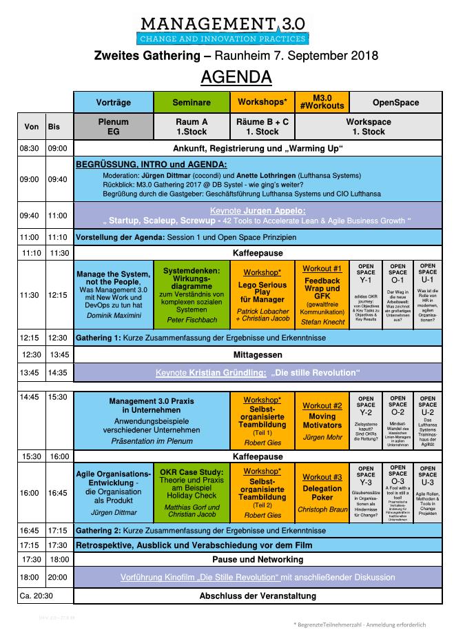 Agenda M3.0 Gathering 2018