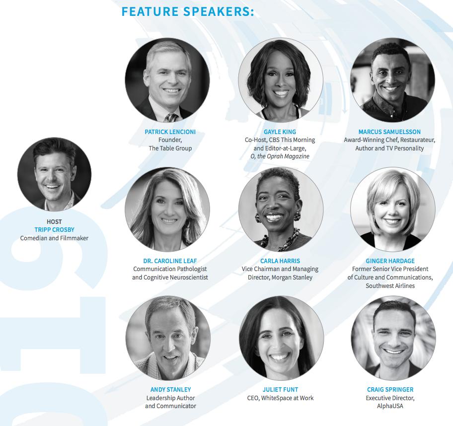 Leadercast Speakers 2019