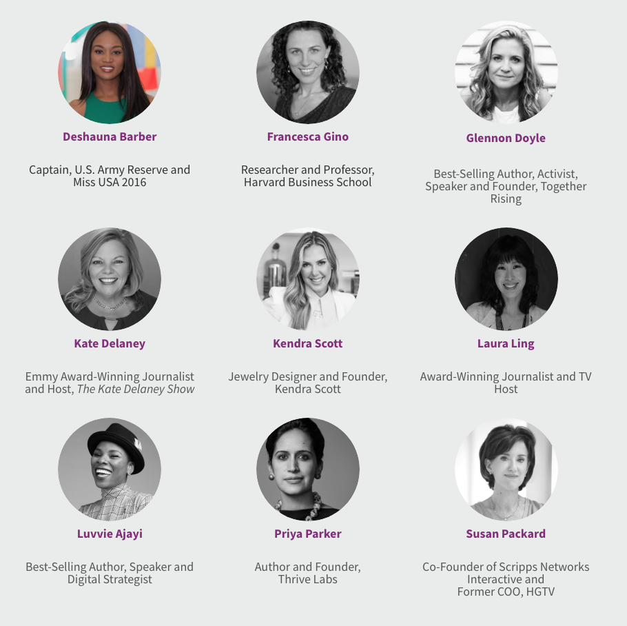 Leadercast Women speakers 2019