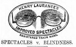 Henry Laurance's Improved Spectacles (advert)