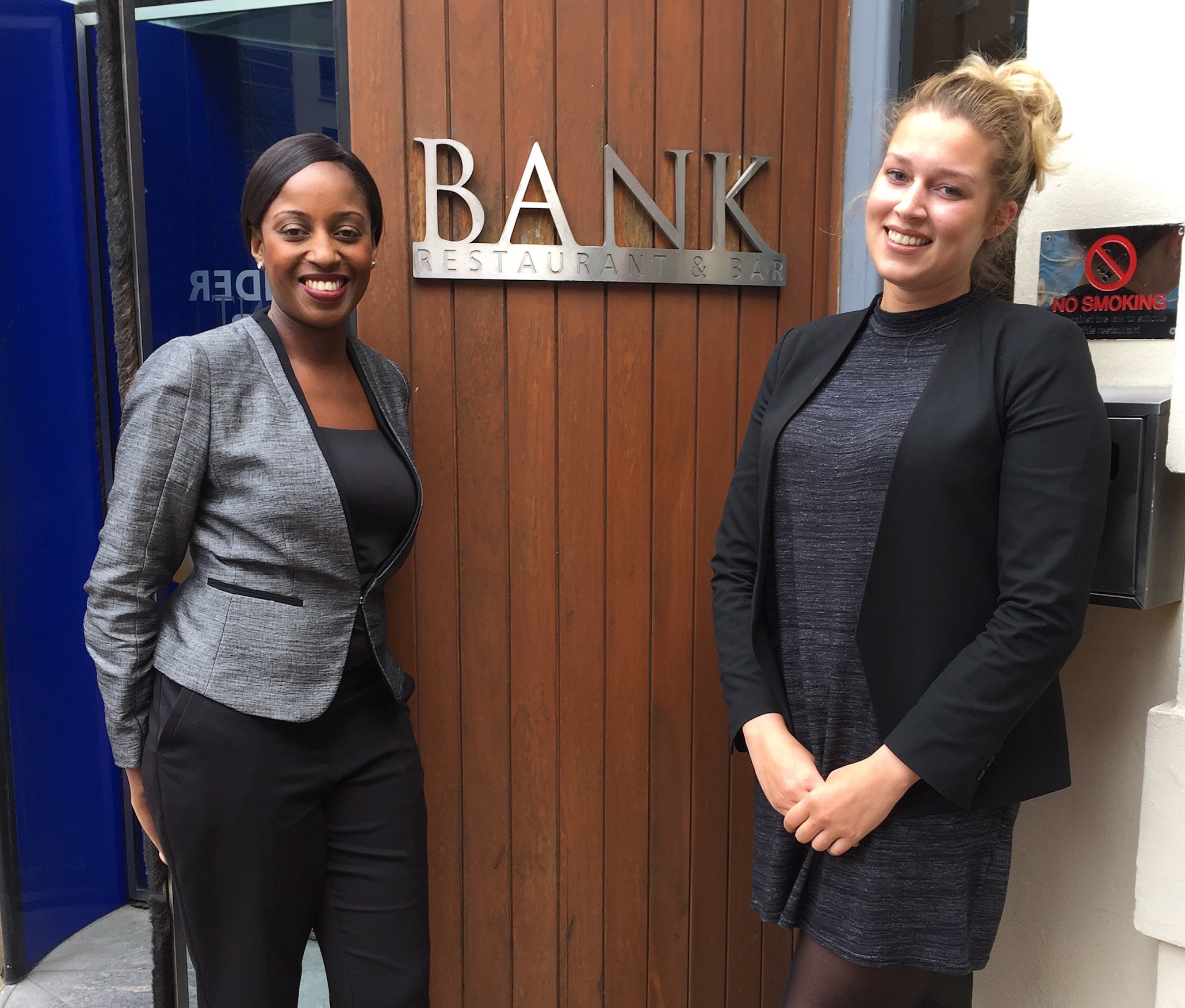 Lena Benjamin and Megan Thomson at Bank Westminster