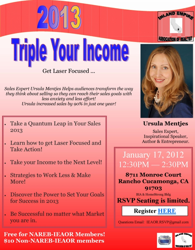 Ursula Mentjes - Triple Your Income 2013