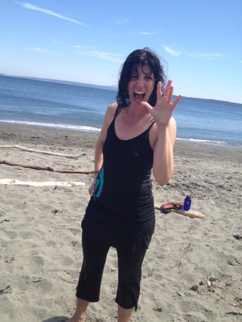 Jill after Port Townsend Skip & Dip