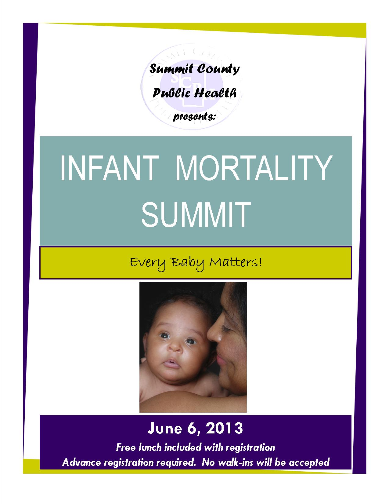 Infant Mortality Summit flyer