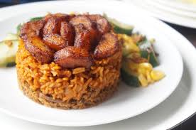jollof with plantain